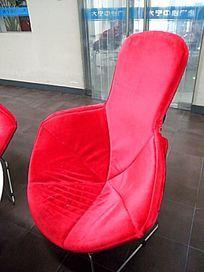 创意休闲红沙发