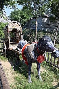 传统马车展示-老物件