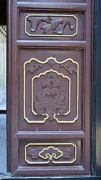 传统门板雕刻艺术-木雕艺术