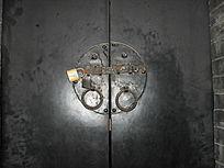 传统木门铁门栓-老物件