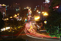 公路璀璨夜景