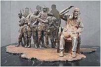 回忆抗战雕塑