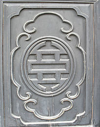 门板简洁雕刻-木雕艺术