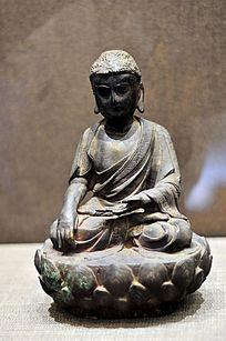 明代铜释迦牟尼佛成道像