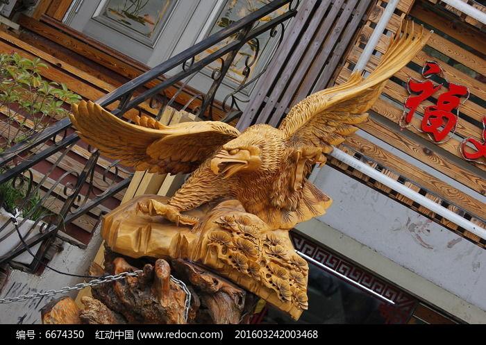 木雕工艺品飞鹰