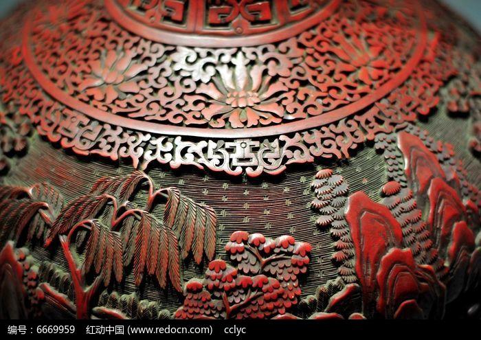 剔红树木花纹雕图图片,高清大图_雕刻艺术素材