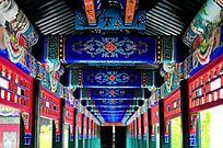 中式建筑长廊雕花
