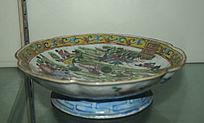 古典果盘展示-花纹陶瓷