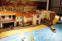 历史古城建筑模型
