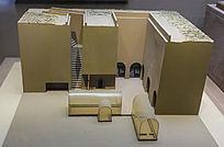 清代下沉式建筑模型
