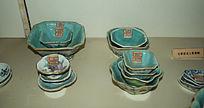 五彩方瓷碗-花纹陶瓷