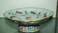 鱼形图案果盘-花纹陶瓷