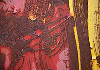 抽象绘制效果的生锈铁皮高清背景素材