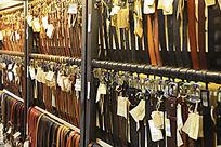 店面皮质腰带的集中展示高清素材