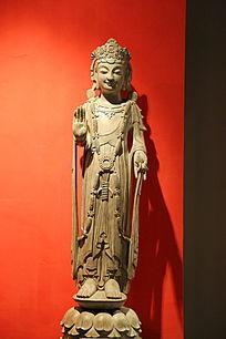 古代站姿菩萨石雕像