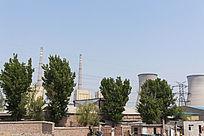 火力发电厂近景