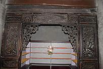 卷曲花纹木雕-边角雕刻装饰
