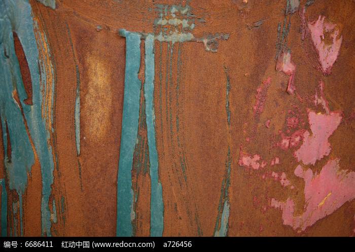 蓝色抓痕效果的生锈铁皮高清背景素材高清图片下载 编号6686411 红图片