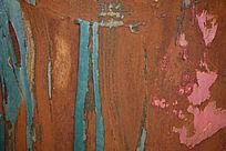 蓝色抓痕效果的生锈铁皮高清背景素材