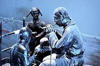 老北京吹糖人雕塑