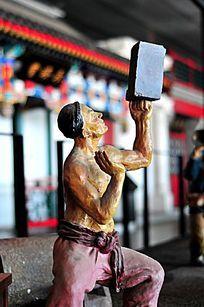 老北京天桥杂耍人