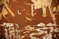 随意粉刷效果的生锈铁皮高清背景素材