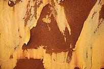 脱皮的生锈铁皮高清背景素材