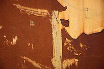 有粉刷效果的生锈铁皮背景素材