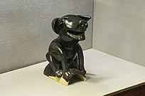 猪形黑釉十二生肖瓦猫