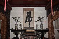 古代武将室内装饰