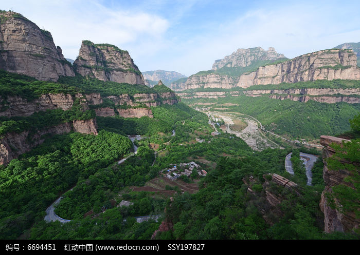 原创摄影图 自然风景 峡谷瀑布 河南林州太行山峡谷风光  请您分享