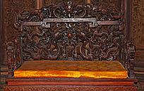 精致龙椅雕刻-木雕艺术