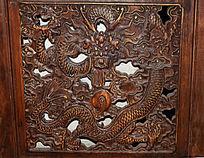 龙形花纹雕刻-木雕艺术