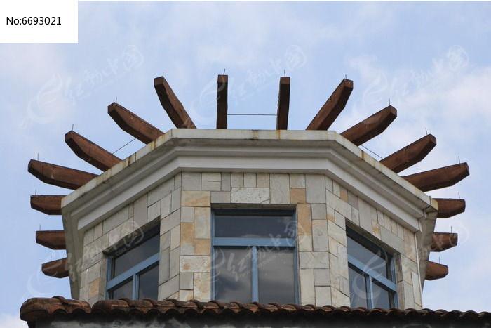 欧式建筑屋顶图片