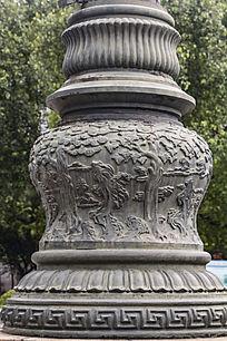 中山纪念堂敲旗杆底座浮雕
