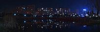 城市高楼里的万家灯火