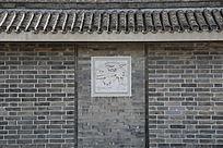 雕花鸟图案砖墙砖瓦背景墙