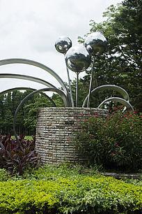 钢铁圆球雕像雕塑