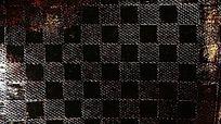 黑色方格皮纹背景