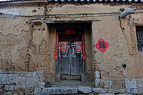 河南林州乡村农家院门