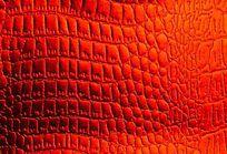 红色皮革纹理背景