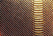 金色皮革背景