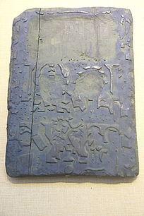 吉星高照年画木雕板蓝色