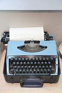 老物件老式按键英文打字机