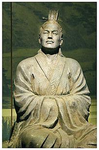 三国曹丕人物雕塑