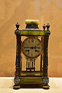 铜镀金珐琅四明钟