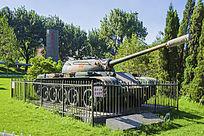 鞍钢展览馆展品59式中型坦克斜面