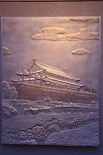 北京天安门雕塑画