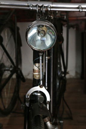 老物件老式自行车大灯