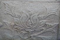 石刻花草植物图案